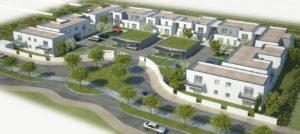 Vue d'ensemble 3D des logements