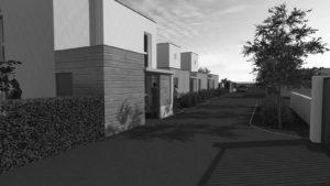 Modélisation de l'entrée des logements de service de la caserne de gendarmerie