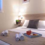 Exemple de chambre suite à la rénovation des logements du VVF