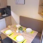 Espace cuisine suite à la rénovation des logements du VVF