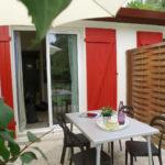 Terrasse suite à la rénovation des logements du VVF